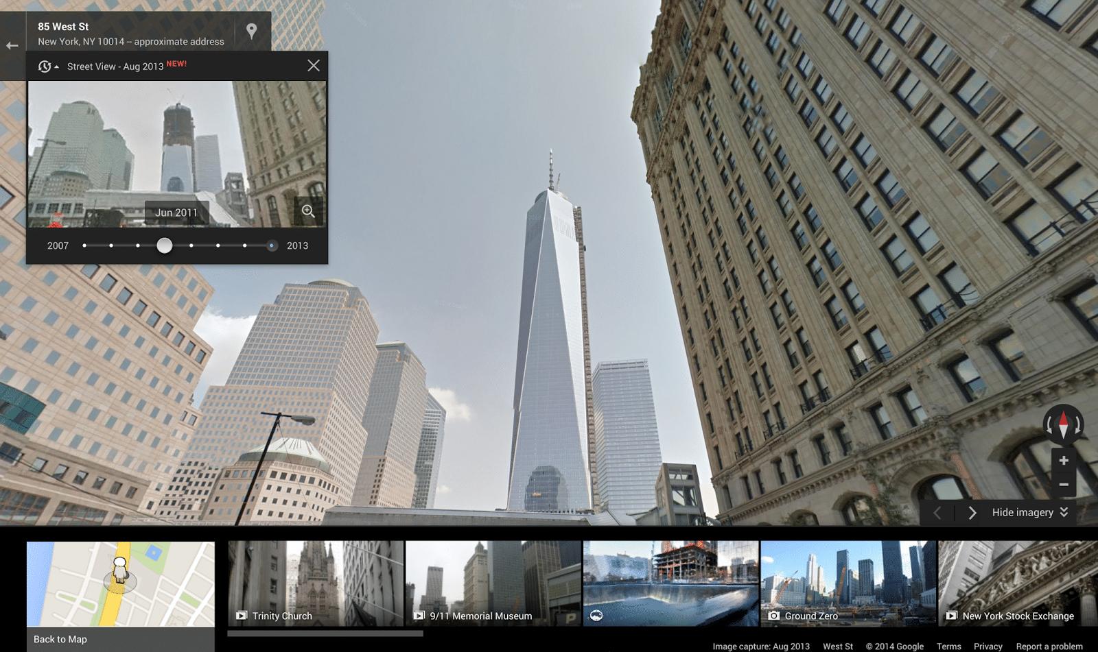 Google maps digital street view