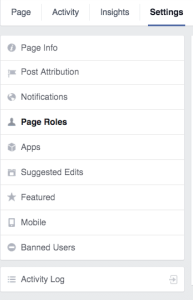 Setting and Page Roles