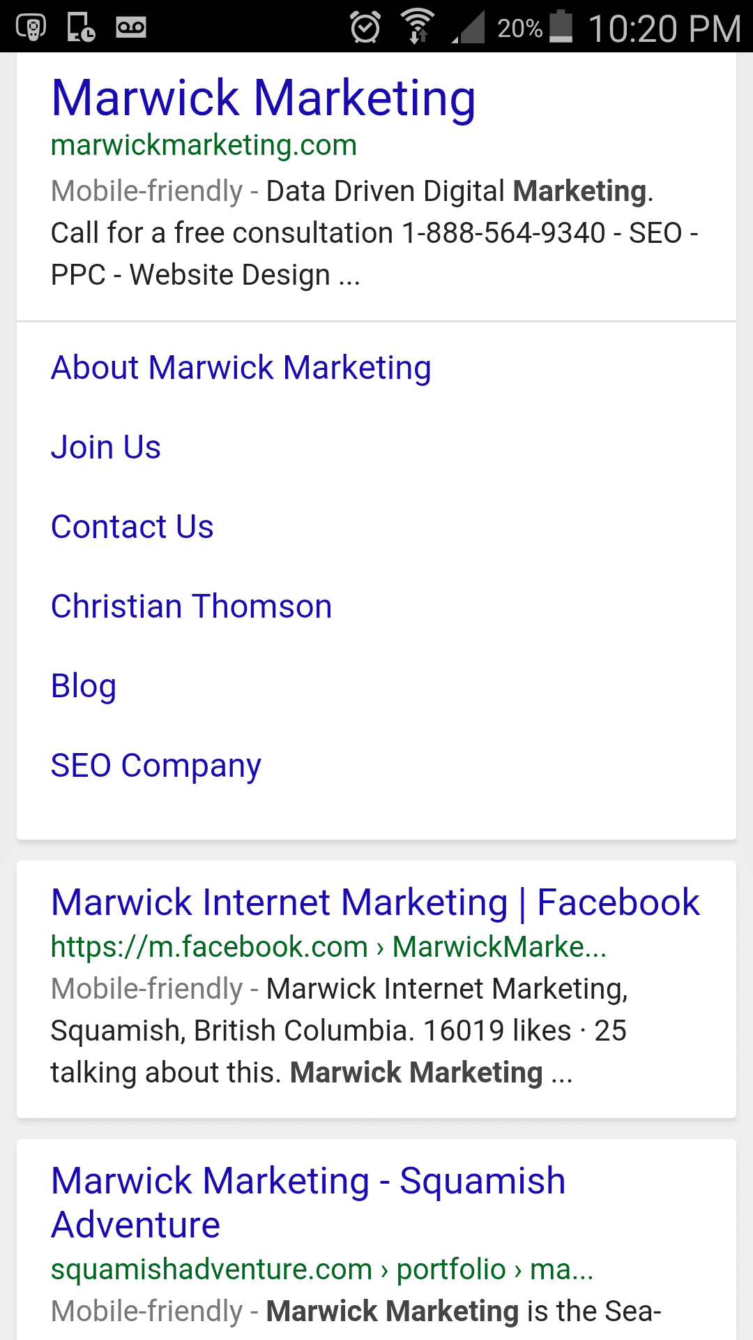 New: Google Mobile Expanded Sitelinks