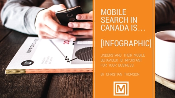 Cover Mobile Search Canada infographic Marwick Marketing