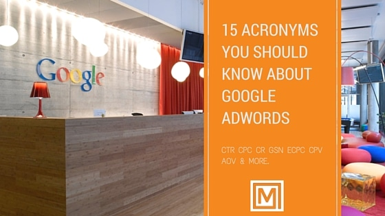 Google AdWords Acronyms Marwick Marketing
