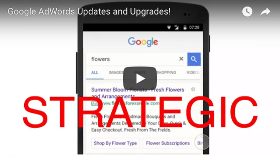 google adwords updates Strategic banner