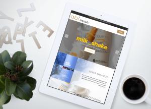 Marwick Responsive Web Design abibeauty iPad MockUp-min