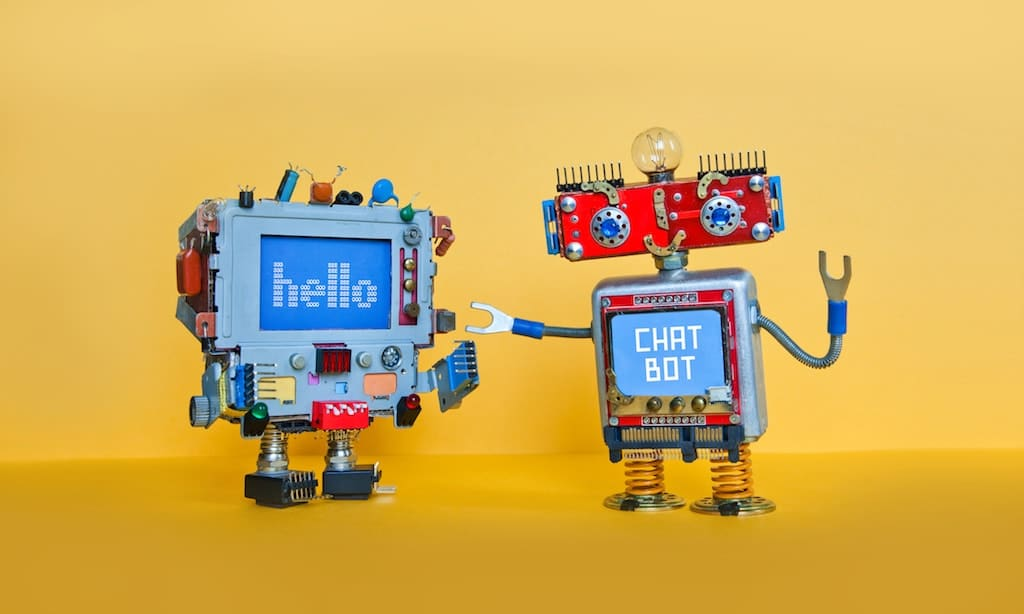 social media trends chat-bot-robot-welcomes-android-robotic-character