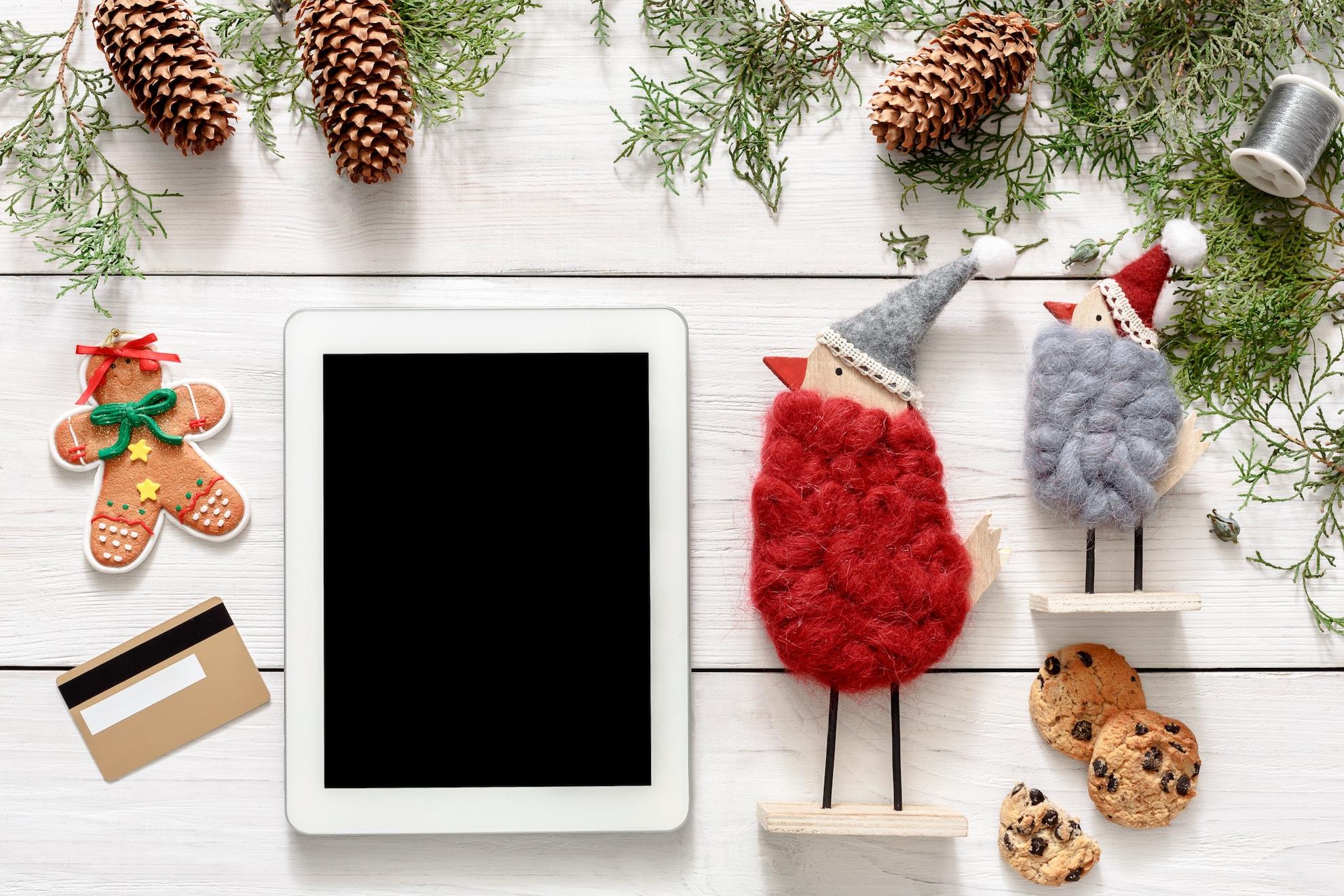 Holiday Season online shopping-background marketing SEO