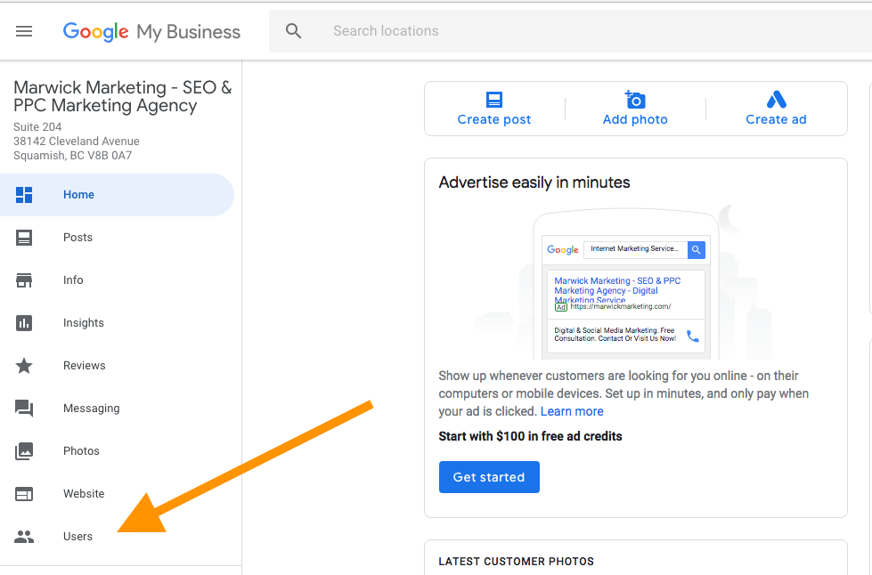 Adding Users to a Listing Google My business-min