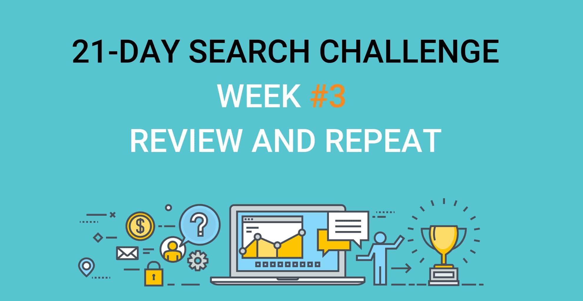 SEO experts Challenge week 2 Week 3 review repeat