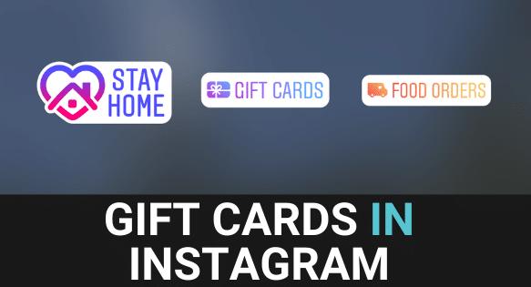 Gift Cards In Instagram